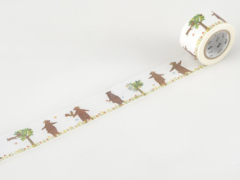 Washi dekoratyvi lipni juostelė mt ex 30mmx10m kasaneru bear&squirrel