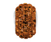 Crystal bead Swarovski BeCharmed Pave 80201 15mm 220 smoked topaz