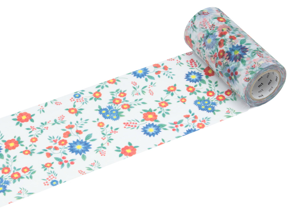 Washi teip mt casa shade 100mmx10m flower S