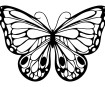 Šablons Marabu Silhouette 15x15cm Romantic Butterfly