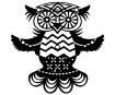 Šablons Marabu Silhouette 15x15cm Flying Owl