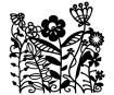 Šablons Marabu Silhouette 15x15cm Flowerbed