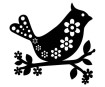 Šabloon Marabu Silhouette 15x15cm Bird with Flowers