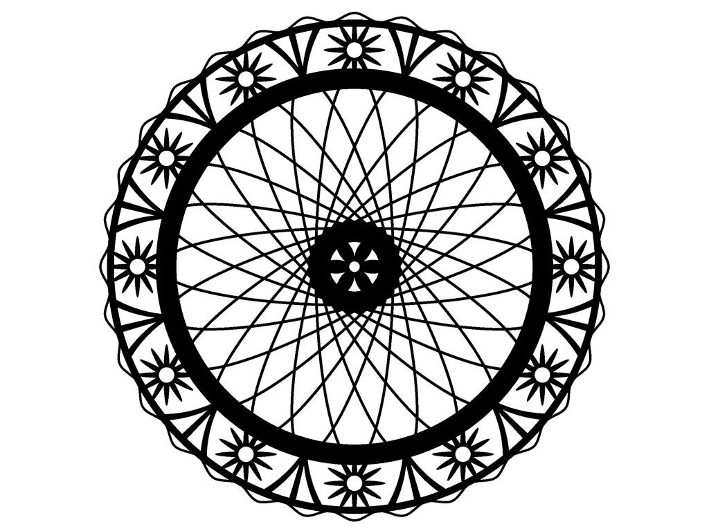 Šablons Marabu Silhouette 30x30cm Wheel of flowers