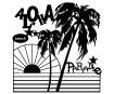 Šabloon Marabu Silhouette 30x30cm Aloha Paradise