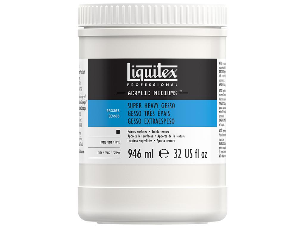 Grunts Liquitex Super Heavy Gesso 946ml balta