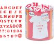 Tempel Aladine Stampo Textile 45tk Alphabet + templipadi must