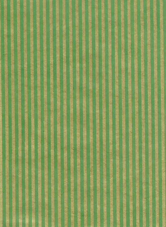 Lokta Paper A4 Stripes Gold on Forest Green