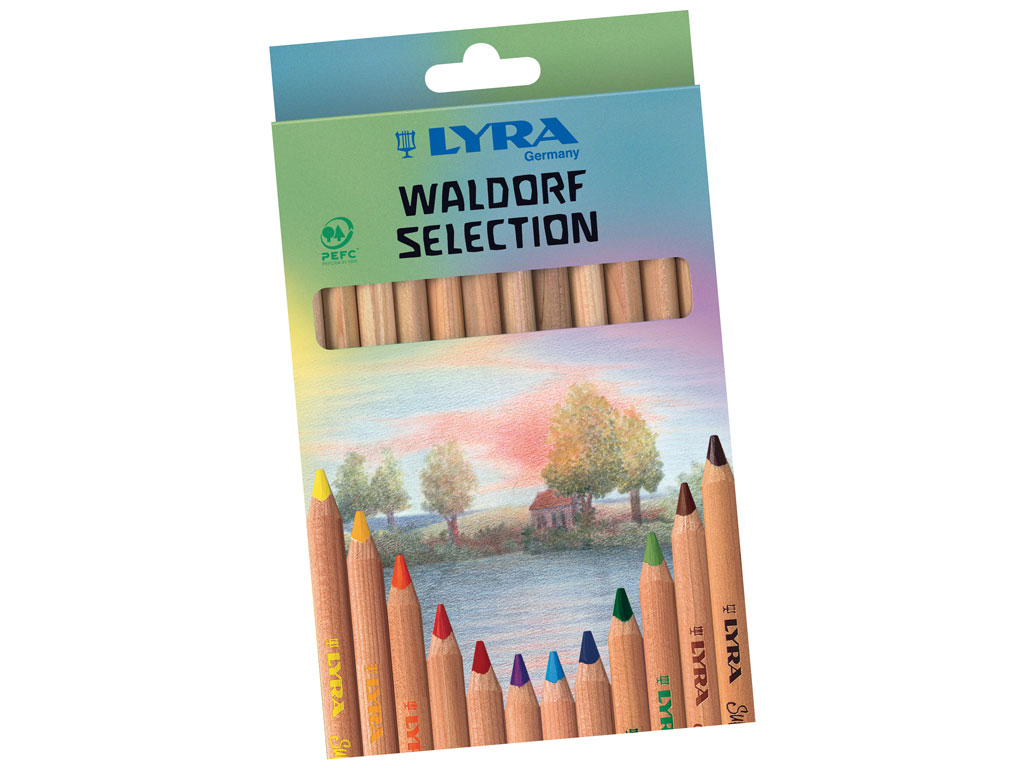 Krāsainie zīmuļi Super Ferby Nature Waldorf 12gab.
