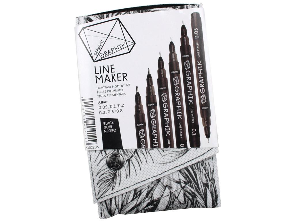 Tintpliiats fineliner Graphik Line Maker 6tk (0.05/0.1/0.2/0.3/0.5/0.8) must