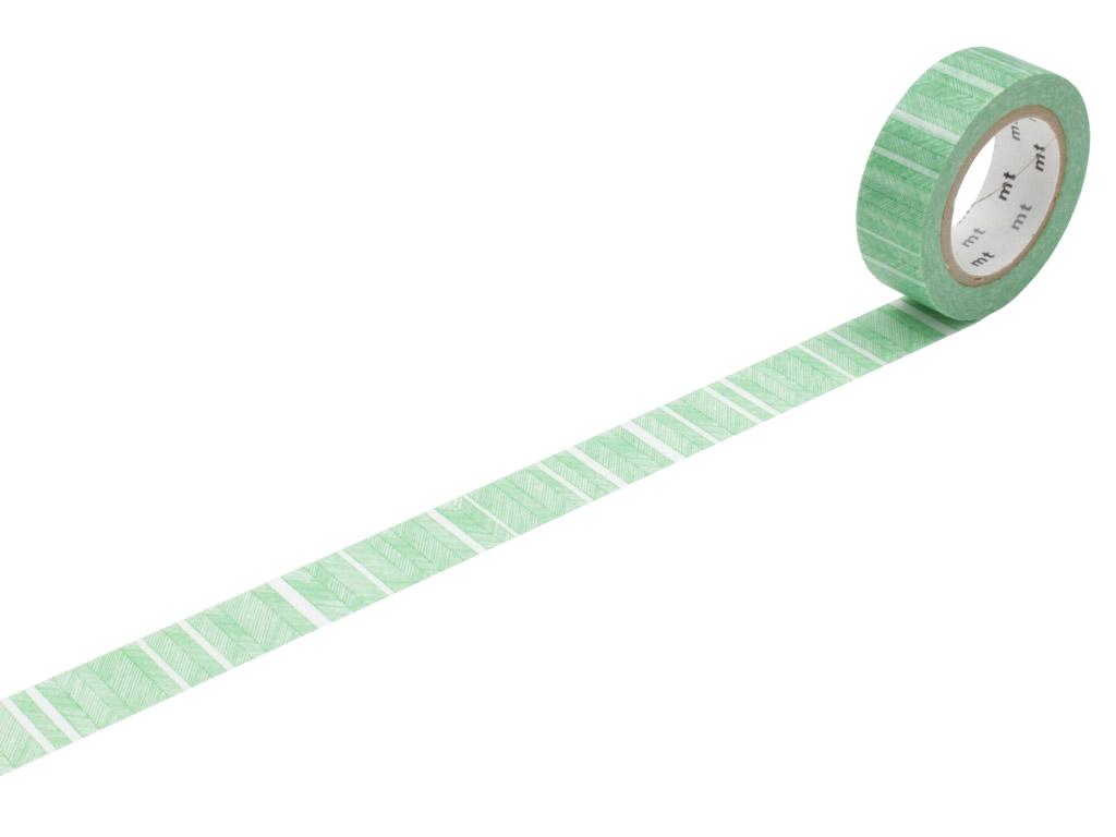 Washi līmlente mt 1P deco 15mmx10m script border green