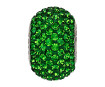Crystal bead Swarovski BeCharmed Pave 80101 14mm 260 dark moss green