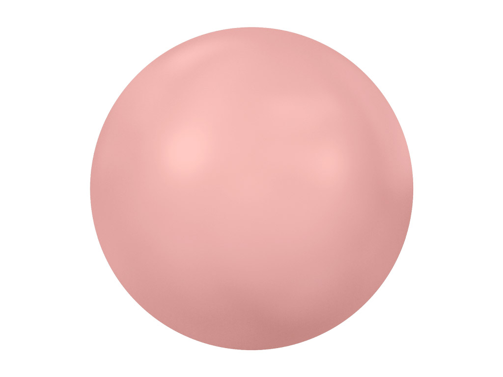 Krištolas Swarovski Flat Back Hotfix apvalus 2080/4 SS10 3mm 60vnt. 001 716 crystal pink coral pearl