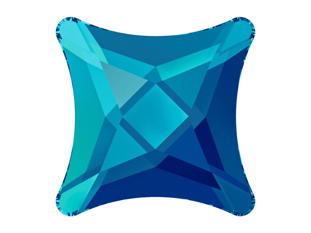 Krištolas Swarovski Flat Back No Hotfix žvaigždutė 2494 8mm 001BBL crystal bermuda blue