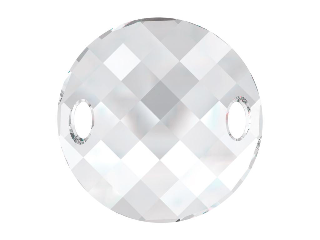 Krištolo karoliukai siuvinėjimui Swarovski apvalus plokščias 3221 28mm 001 crystal