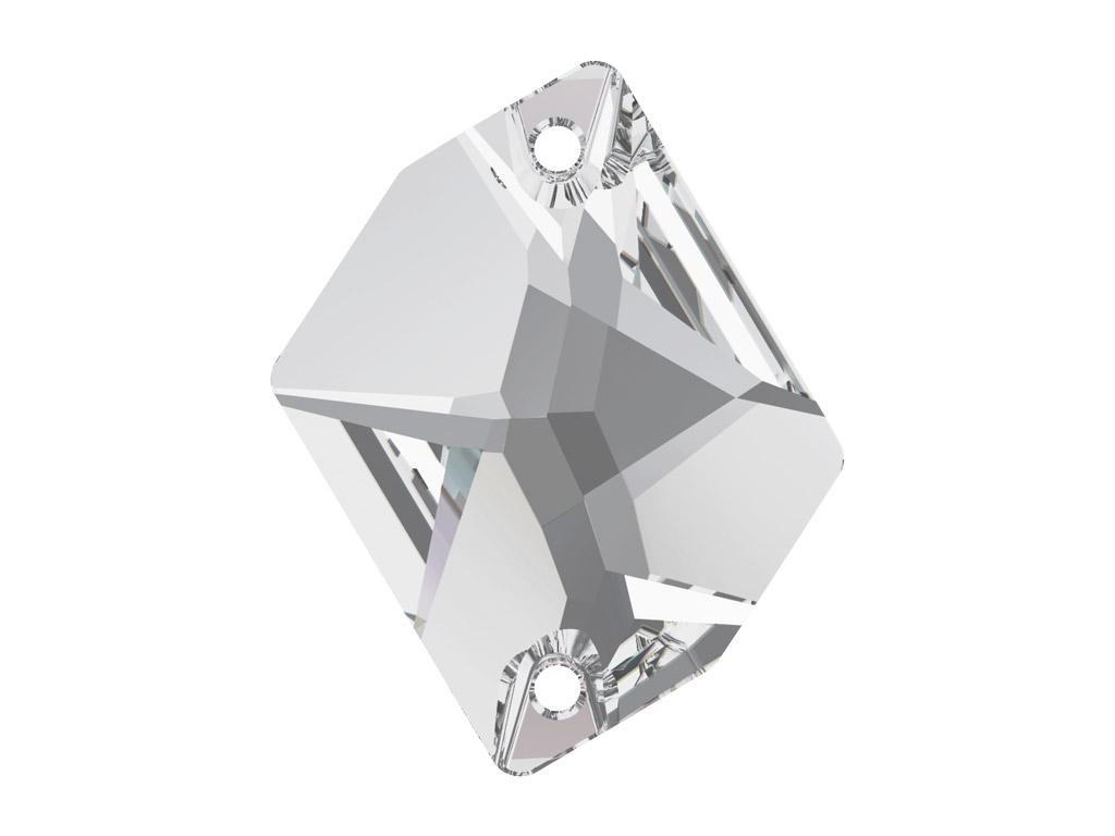 Kristāla pērlīte izšūšanai Swarovski cosmic 3265 26x21mm 001 crystal