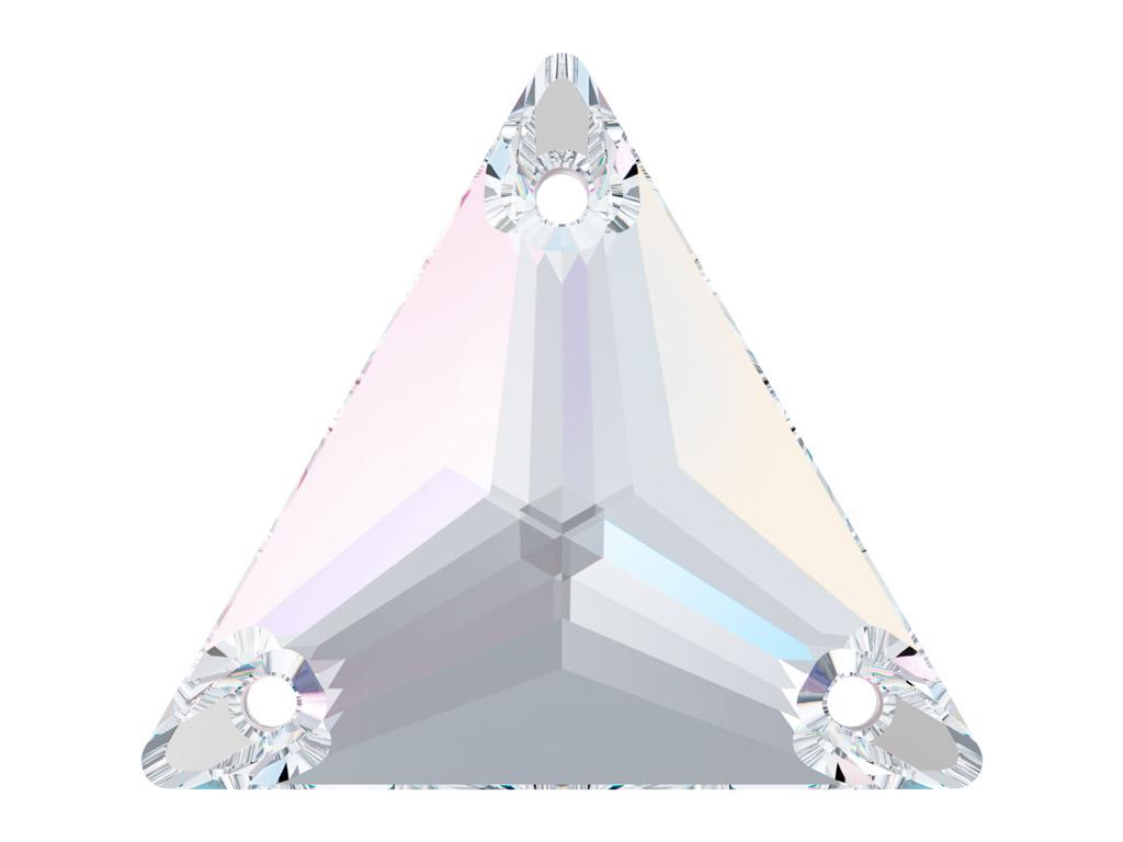 Kristallhelmes õmblemiseks Swarovski kolmnurk 3270 16mm 001AB crystal aurore boreale