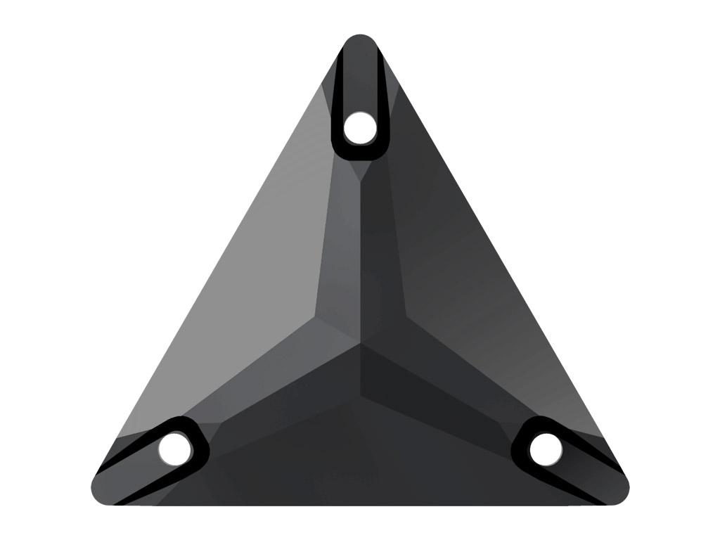 Kristallhelmes õmblemiseks Swarovski kolmnurk 3270 16mm 280 jet