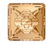 Krištolas Swarovski kvadratas 4481 16mm 001GSHA crystal golden shadow