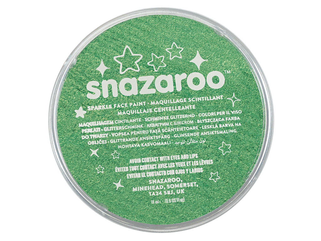Grimo dažai Snazaroo 18ml sparkle pale green