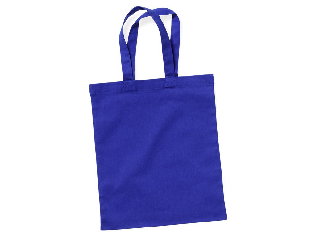 Kokvilnas maisiņš 24x28cm ar īsiem rokturiem blue royal