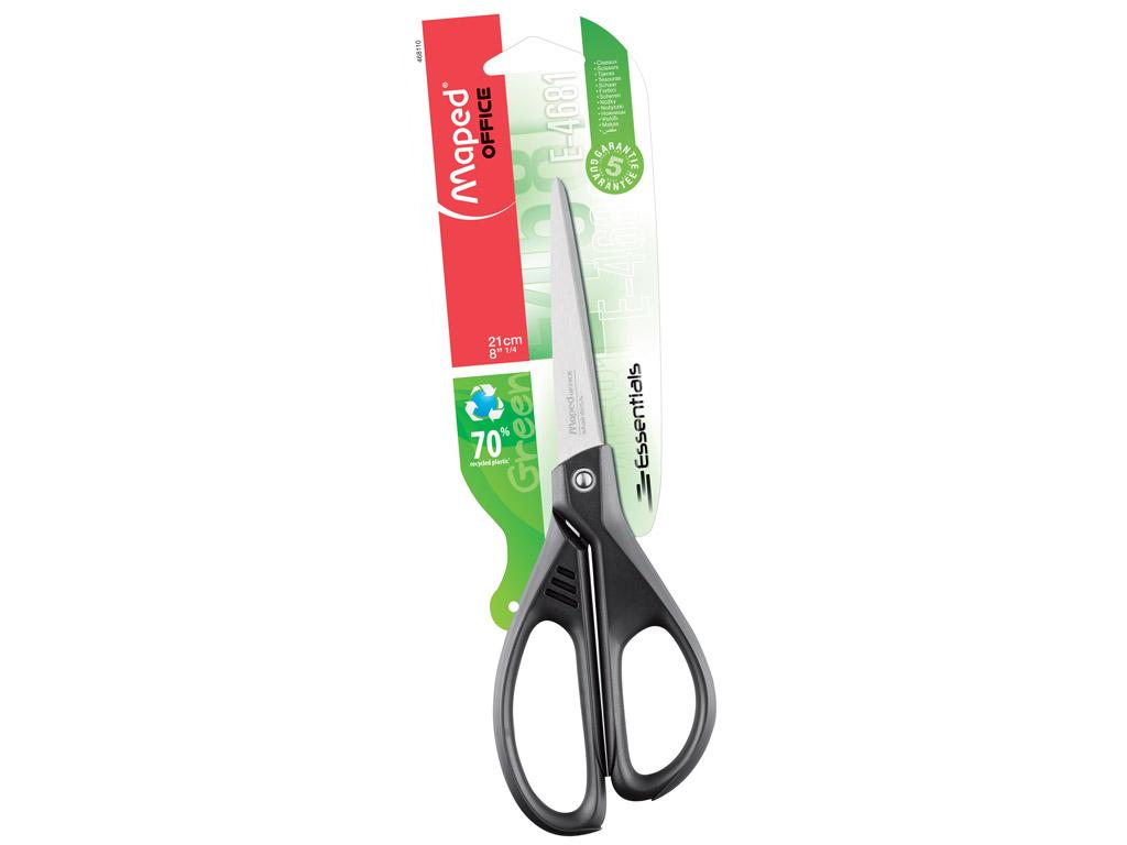 Šķēres Maped Essentials Green 21cm blisterī