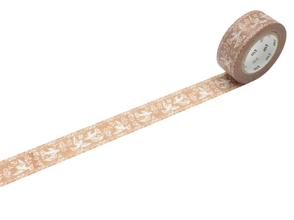 Washi teip mt ex 18mmx10m lace/bird