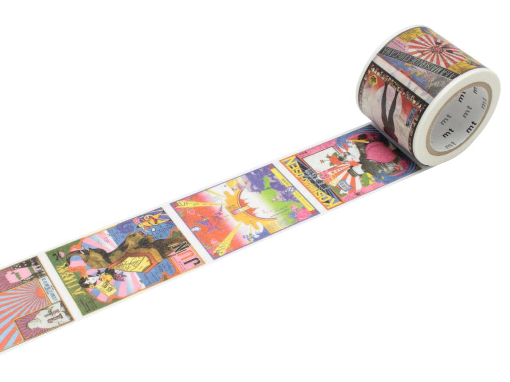 Washi dekoratyvi lipni juostelė mt Tadanori Yokoo 37mmx10m posters