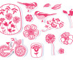 Tempel Aladine Stampo Textile 14tk Flowers + templipadi must