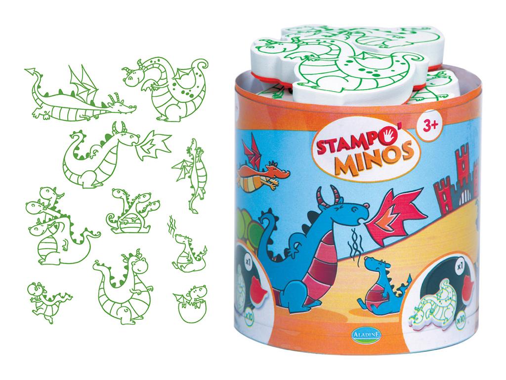 Tempel Aladine Stampo Minos 10tk Dragons + templipadi must