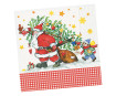 Napkins 33x33cm 20pcs 3-ply Santa`s Little Helper