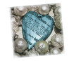 Napkins 33x33cm 20pcs 3-ply Shiny Heart