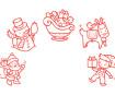 Zīmogs Aladine Stampo Baby 5gab. Christmas + zīmoga spilventiņš sarkana
