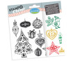 Tempel silikoonist Aladine Stampo Clear 12tk Christmas Tangle blistril