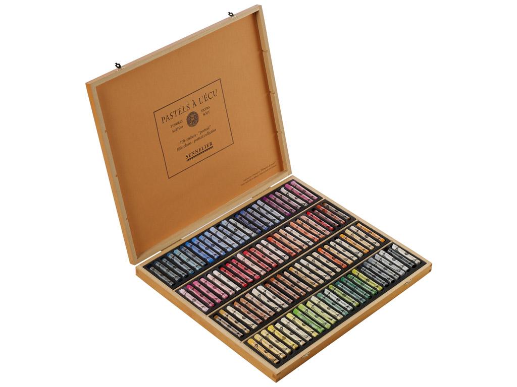 Soft pastels Sennelier 100pcs Portrait wooden set