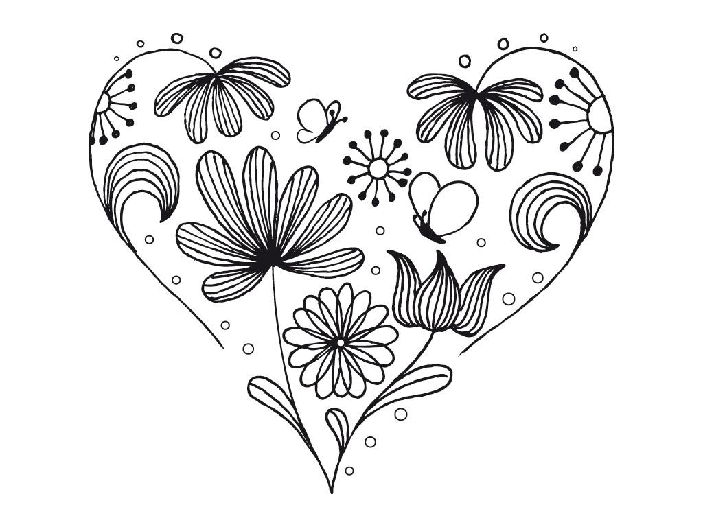 Spaudas Aladine širdelė iš gėlių 7x7cm