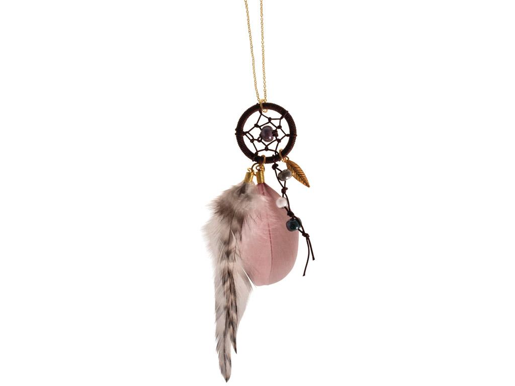 Sapņu ķērājs-kaklarota Rayher Luna zelta/rozā