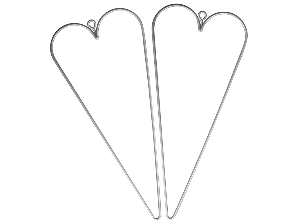 Wire heart Rayher 16x7cm 2pcs