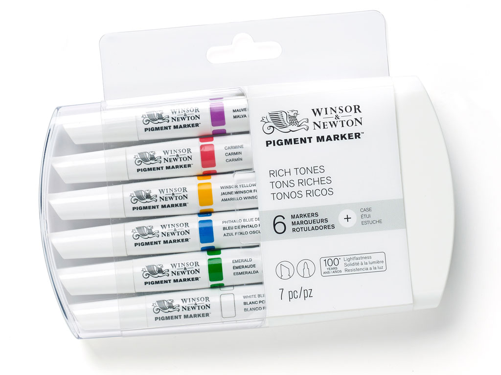 Marķieris W&N Pigment 6gab. rich tones