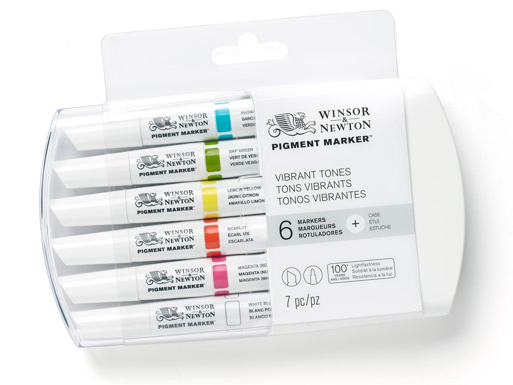 Marķieris W&N Pigment 6gab. vibrant tones