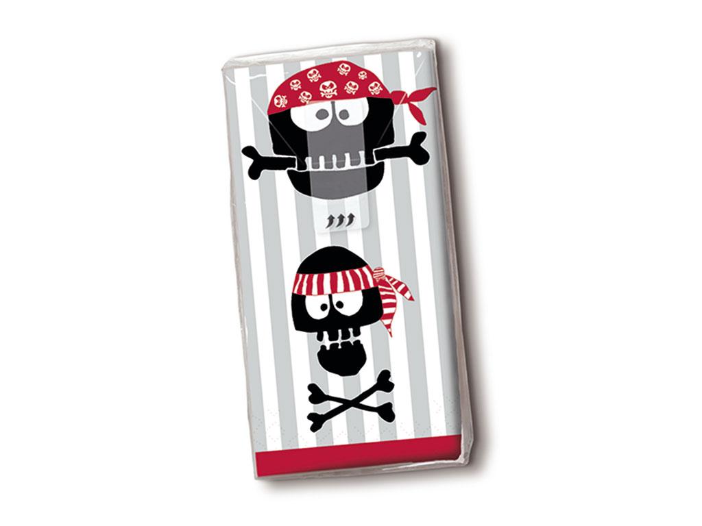 Papīra kabatlakatiņi 10gab. 4-slāņu Pirates Ahoi