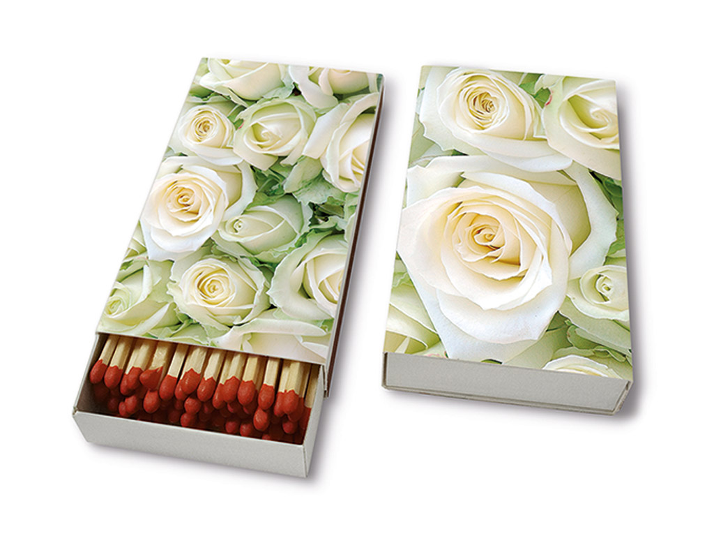 Matches 9.5cm 45pcs White Roses