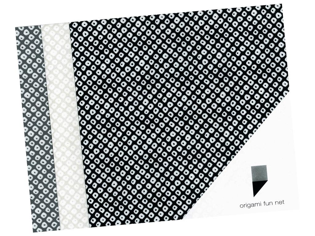 Washi paper Origami Fun Net 15x15cm 3x3pcs shibori