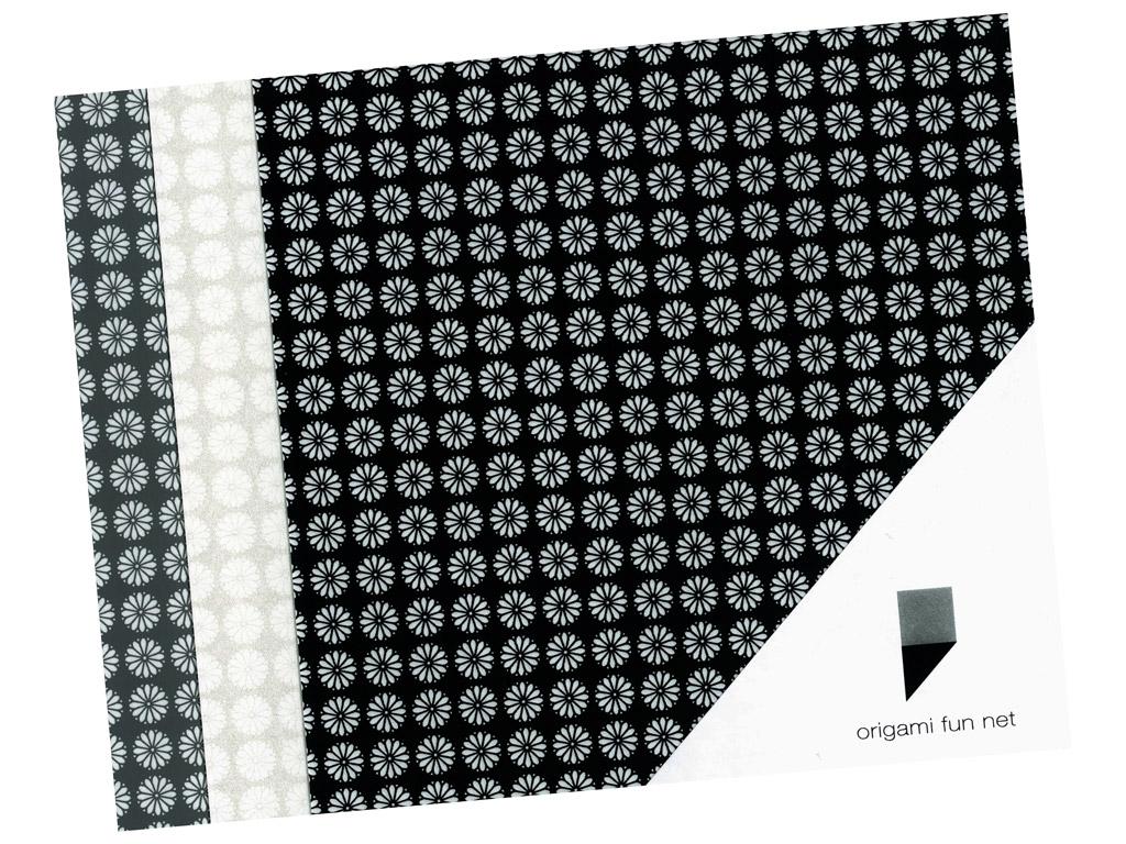 Washi paper Origami Fun Net 15x15cm 3x3pcs kiku koman-cheysanthemum