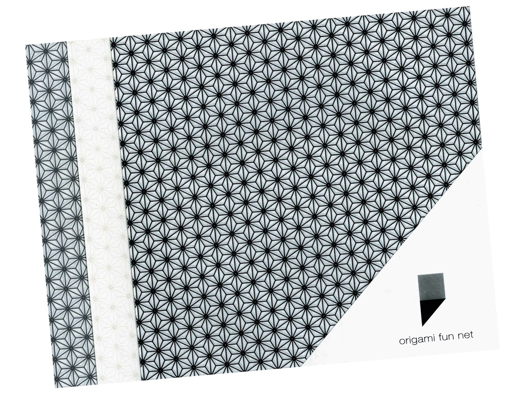 Washi paper Origami Fun Net 15x15cm 3x3pcs asanoha-hemp leafs