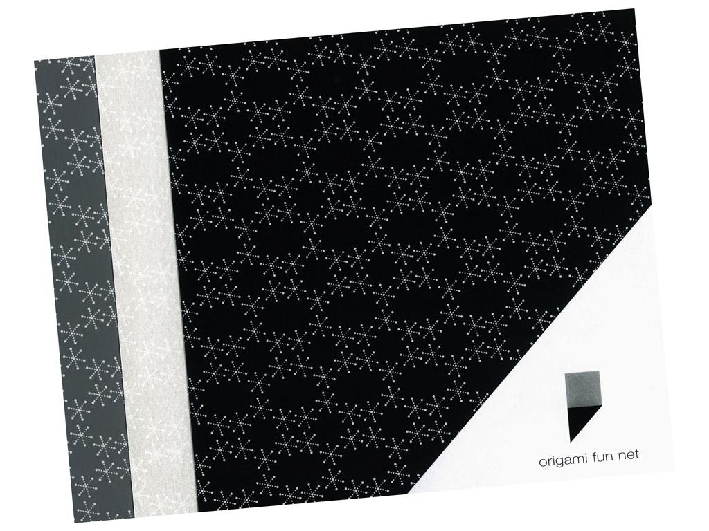 Washi paper Origami Fun Net 15x15cm 3x3pcs yuki guruma-snowflakes