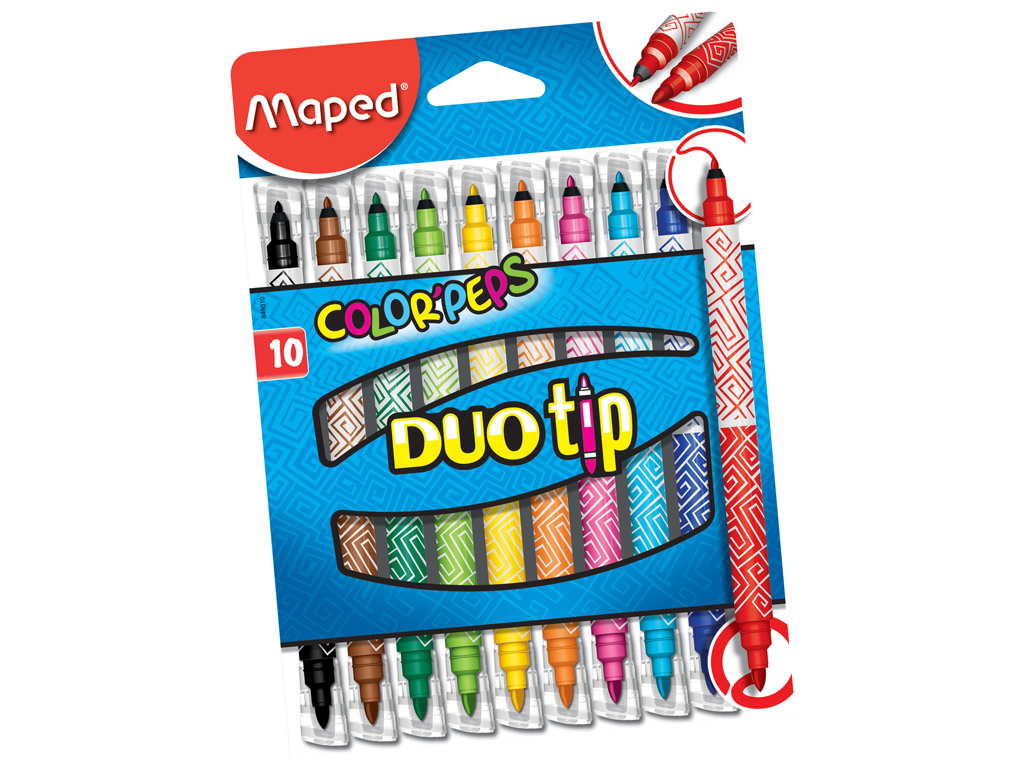 Flomasteris ColorPeps Duo Tip 10vnt.