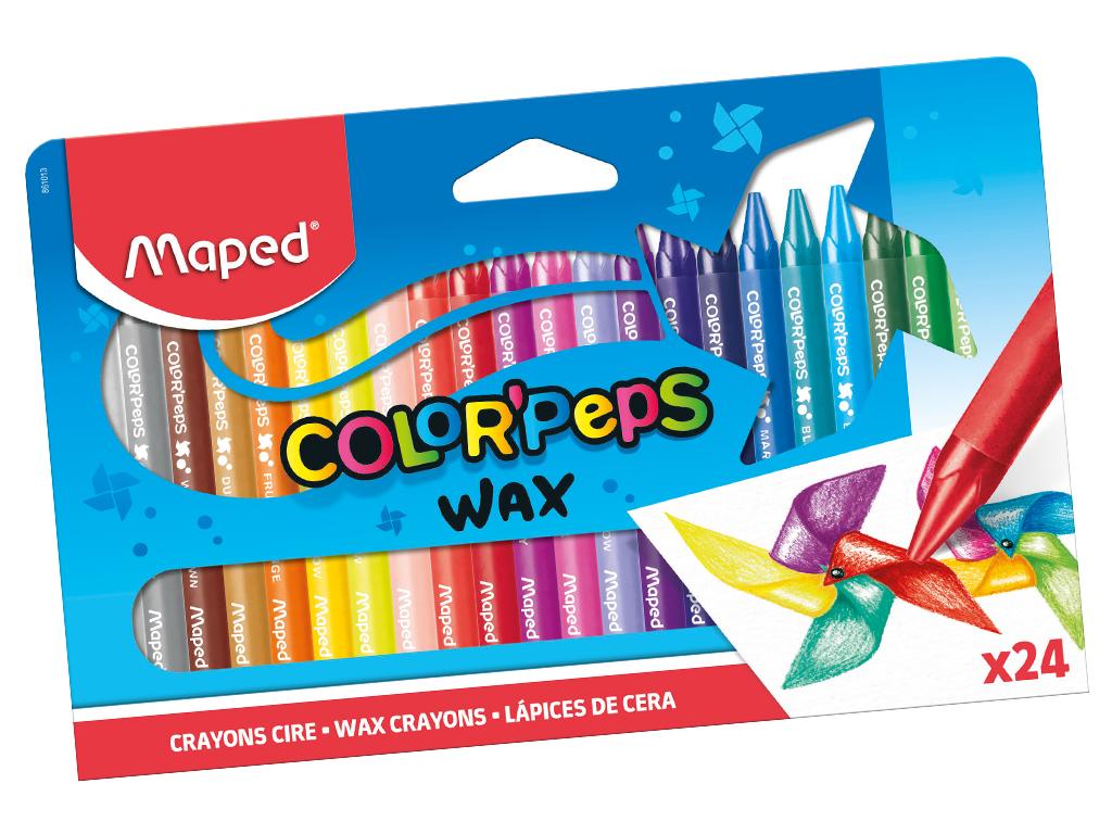 Wax crayons ColorPeps 24pcs