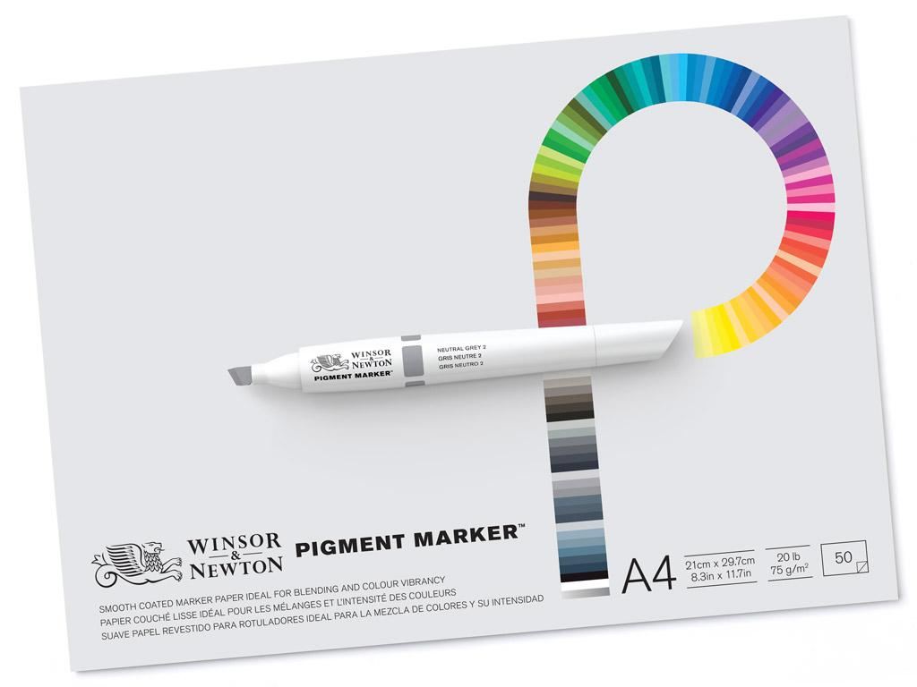 Joonistusplokk W&N Pigment Marker A4/75g 50 lehte