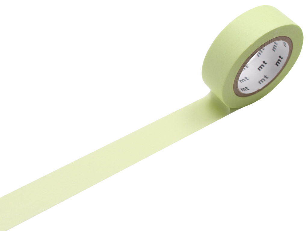 Masking tape mt 1P basic 15mmx10m pastel lime